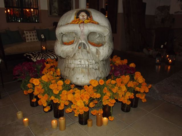 Alter for Day of the Dead -Skull